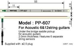 Artec - Artec PP607 Akustik Gitar Eşik Altı Piezo Manyetik