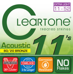 Cleartone - Cleartone 7611 Custom Light Akustik Gitar Teli (11-52)