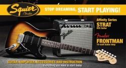 Squier - Squier Affinity Strat HSS Brown Sunburst Başlangıç Gitar Seti