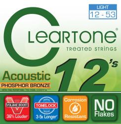 Cleartone - Cleartone 7412 Light Akustik Gitar Teli (12-53)
