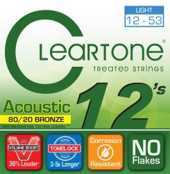 Cleartone - Cleartone 7612 Light Akustik Gitar Teli (12-53)