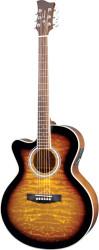 Jay Turser - Jay Turser JTA-424-QCET-LH-TSB Solak Elektro Akustik Gitar