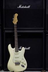 Kozmos - Kozmos KST-62SSS-GRWN-VWH 62 Strat Beyaz Elektro Gitar