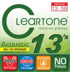 Cleartone - Cleartone 7613 Medium Akustik Gitar Teli (13-56)