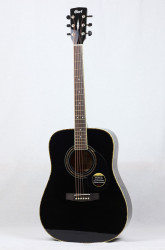 Cort - Cort AD880 BKW Siyah Akustik Gitar + Kılıf