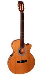 Cort - Cort CEC1 NAT Parlak İnce Kasa Elektro Klasik Gitar