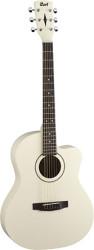 Cort - Cort JADE1-AW Kesik Kasa Beyaz Akustik Gitar