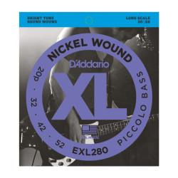 DAddario - D´Addario EXL280 Nickel Wound Piccolo Bass Teli (20-52)