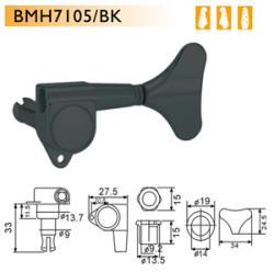 Dr. Parts - Dr. Parts BMH7105/BK R2L2 Bas Gitar Burgusu