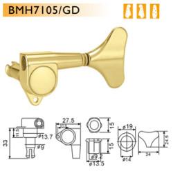 Dr. Parts - Dr. Parts BMH7105/GD R2L2 Bas Gitar Burgusu