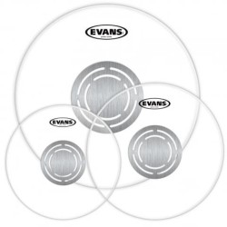Evans - Evans ETP-PC1CLR-R Power Center Clear Drum Head Set