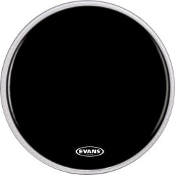 Evans - Evans BD22RBG Resonant Black Kros Ön Derisi (22 Inch)