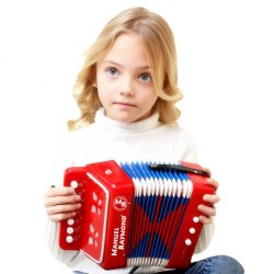 Honer - Manuel Raymond B0703 Kırmızı Çocuk Akordeonu