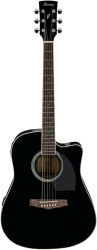 Ibanez - Ibanez PF15ECE-BK Elektro Akustik Gitar