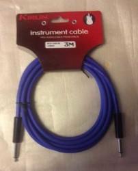 KIRLIN - Kirlin IPCA-201B-BL 3MT Mono Plug Enstruman Kablosu