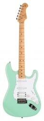 Kozmos - Kozmos KST-BSWHSS-GMN-SFG Surf Green Elektro Gitar