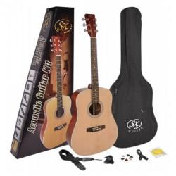 SX - SX SD204K Naturel Akustik Gitar Seti