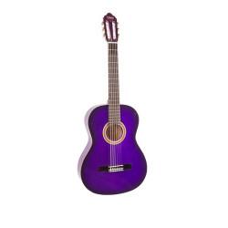 Valencia - Valencia VC101-PPS 1/4 Mor Klasik Çocuk Gitarı